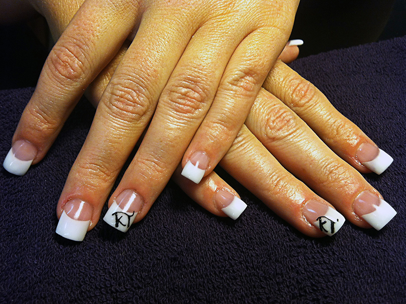 Chic nail styles gallery of nail designs and art sculpted acrylic on bitten nails with hand painted cattle brand prinsesfo Images