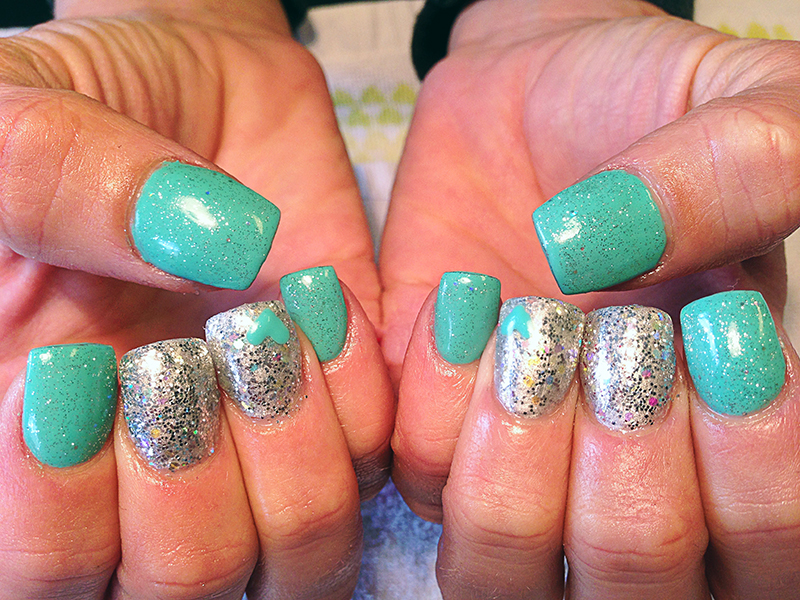 sculpted-acrylic-with-gel-polish - Chic Nail Style's Gallery Of Nail Designs And Art