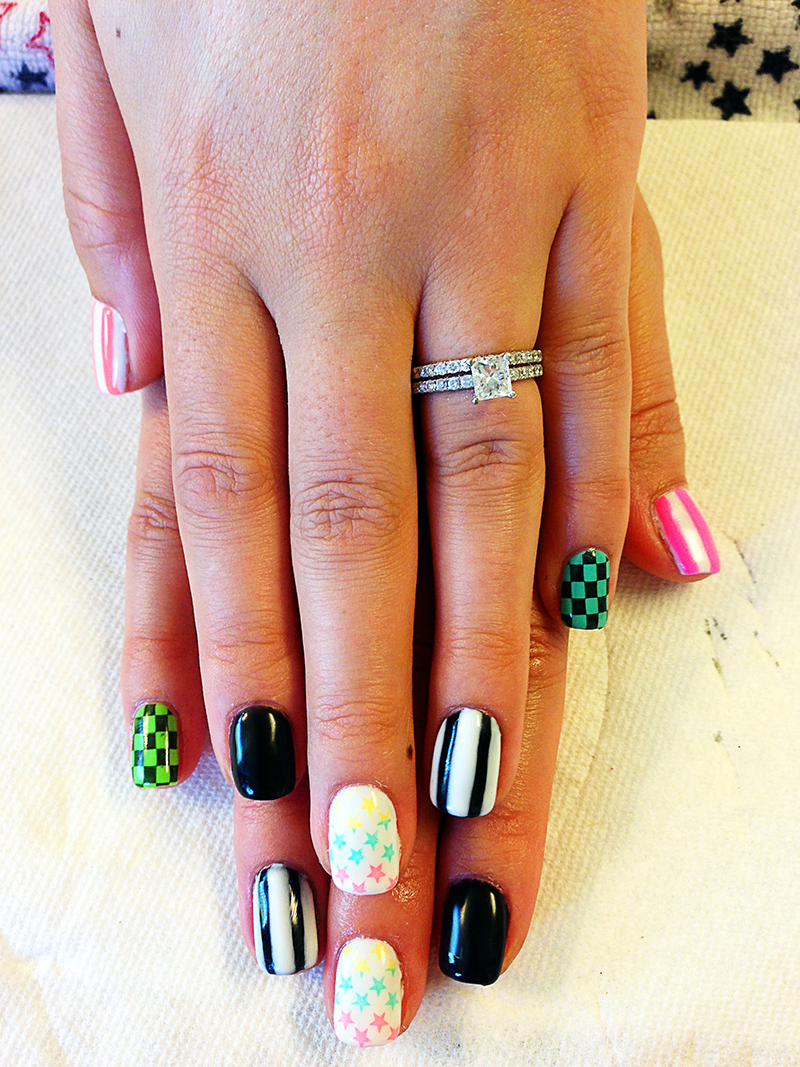 Chic nail styles gallery of nail designs and art neon gel polish nail art prinsesfo Images