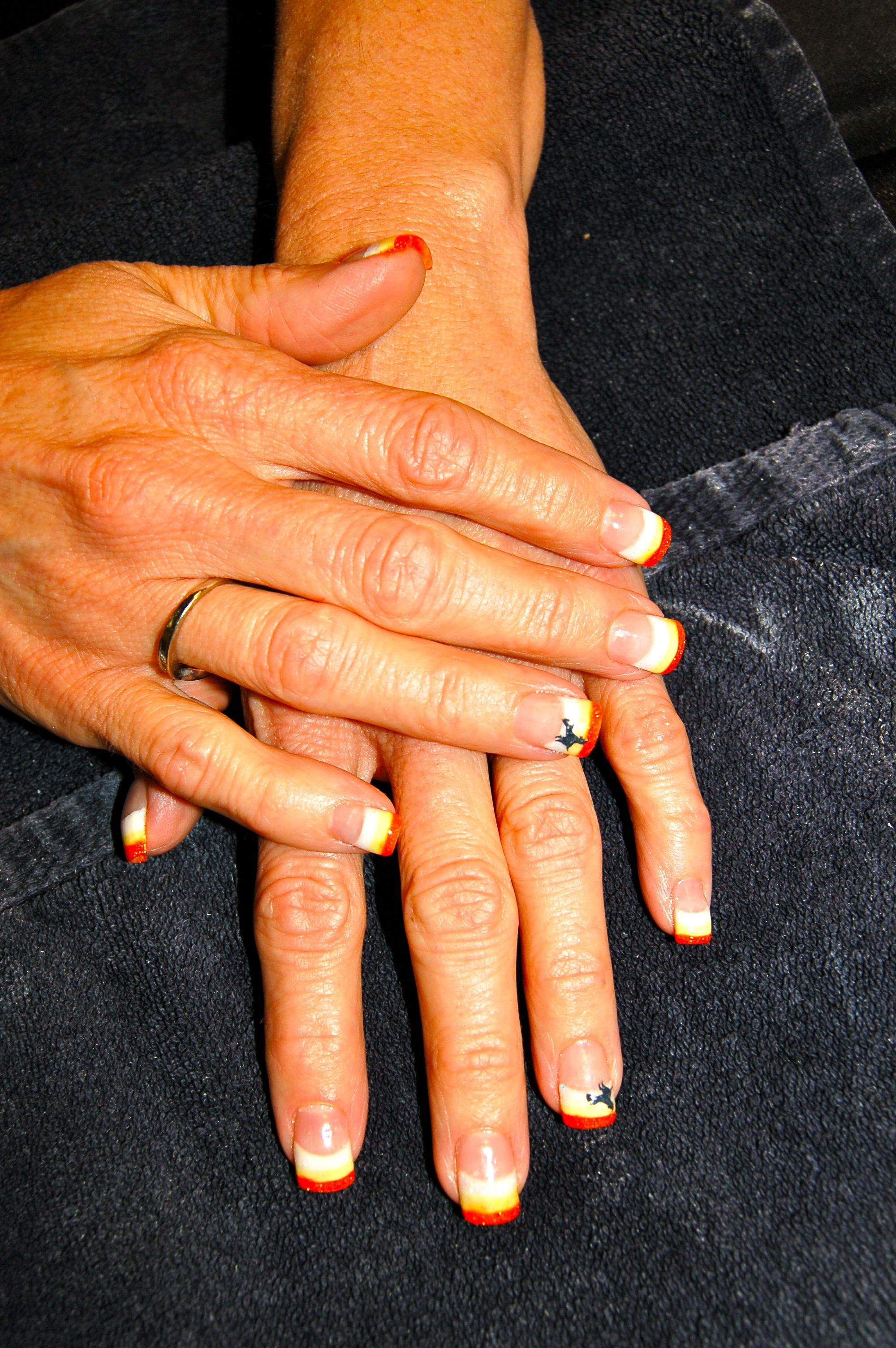 Cute Halloween Nails! And my new Fall hair color! - Chic Nail Styles