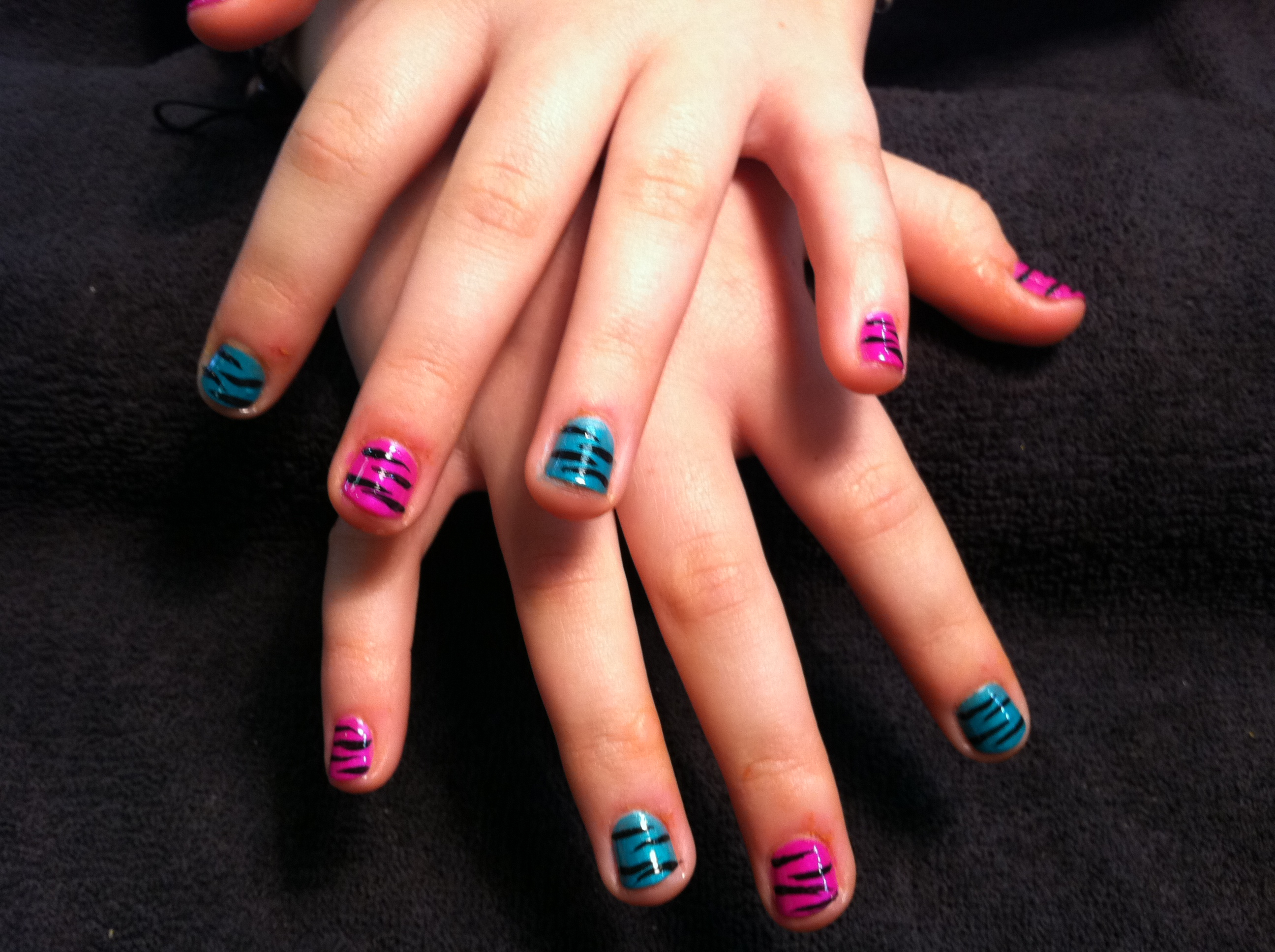 Nail art or not chic nail styles funky zebra bling on 11 year old star tennis player love them prinsesfo Choice Image