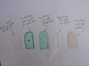 My sketch of the Tiffany mani....took me all night!