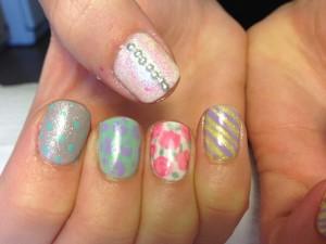 Studs, glitter, stripes, dots, flowers, leopard=fun!