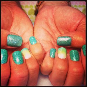 Young Nails Mani-Q Green 101 is the most beautiful color of turquoise!