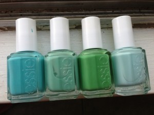 From Left to Right: In The Cab-Ana, Turquoise and Caicos, Mojito Madness, Mint Candy Apple