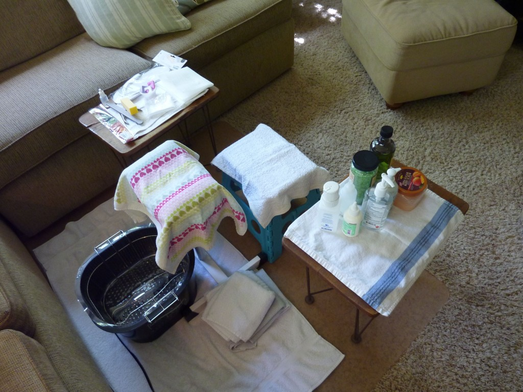 Here is what my pedicure station looks like!