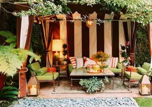 A fun simple backyard cabana!
