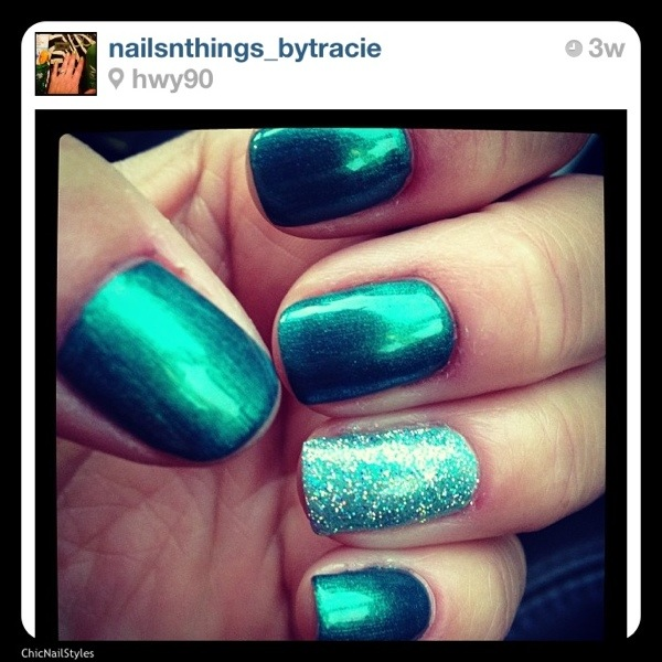 I do love this green color as well! My husband thought I should do an ocean theme..this would look great on the Avila Beach! IG @nailsnthings_bytracie