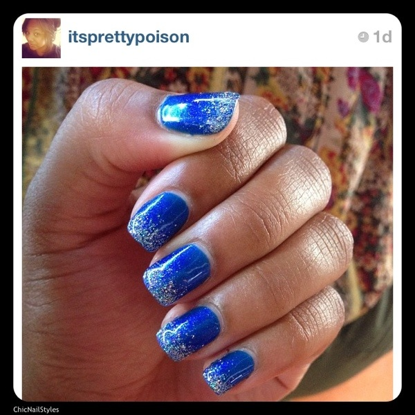 I love this vibrant blue sparkly nail! It would be great with a red for the 4th of July! by IG user @itsprettypoison--I believe she posted these for her vacation to Punta Cana, Dominican Republic. Jealous! :) Click on pic for resort website :)