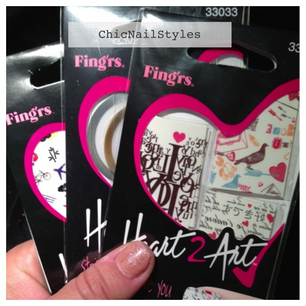 Fing'rs Heart2Art Decals, Tattoos, and Decals