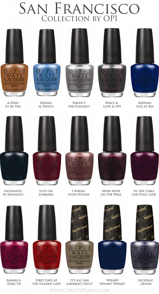 OPI Fall 2013 San Francisco Collection - Chic Nail Styles