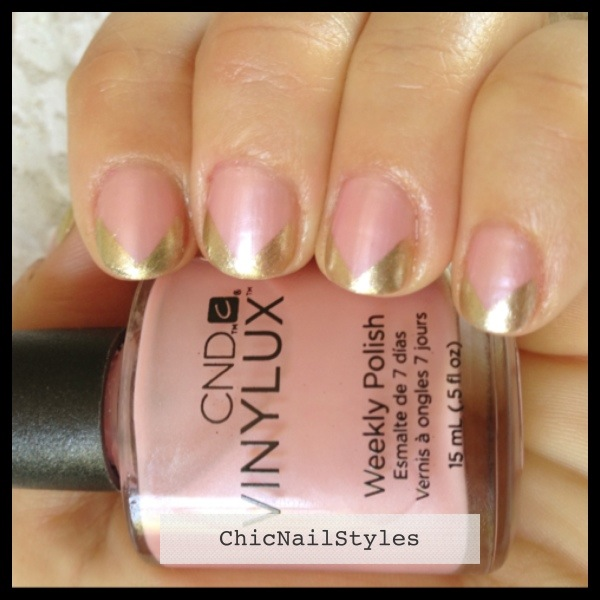 I used Vinylux Strawberry Smoothie with Locket Love for this mani....
