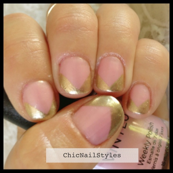 I love this chevron french mani...it really elongates my nail beds!