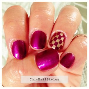 Essie The Lace Is On with Good As Gold Checker Stamp