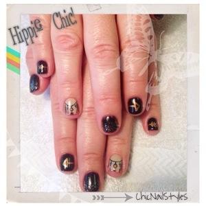 hippie glam chic nails