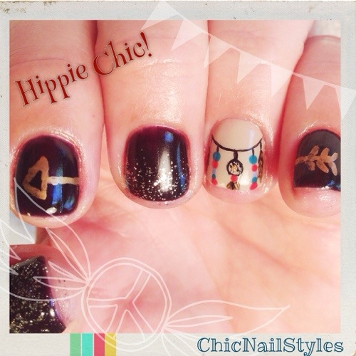 Hippie Nail Art