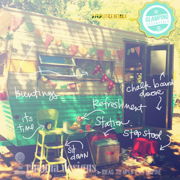 Click on the pic to check out the cutest camping trailer inside and out!