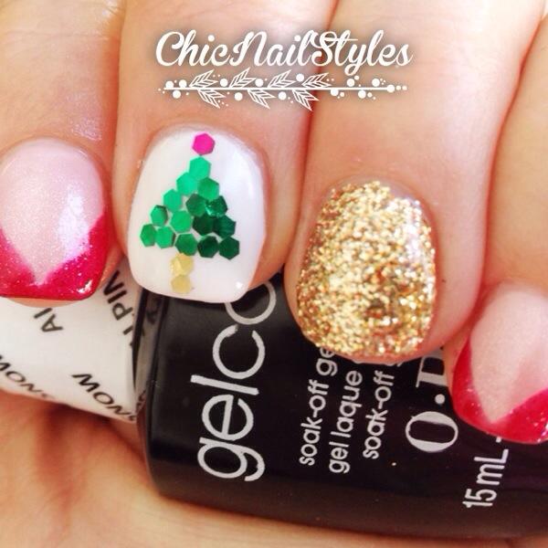 Hex Glitter Christmas Tree
