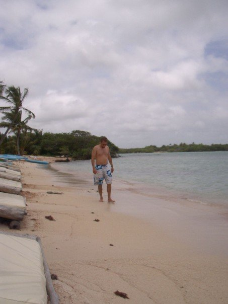 This was a beach at a little restaurant we found...the water was so clear and amazing!