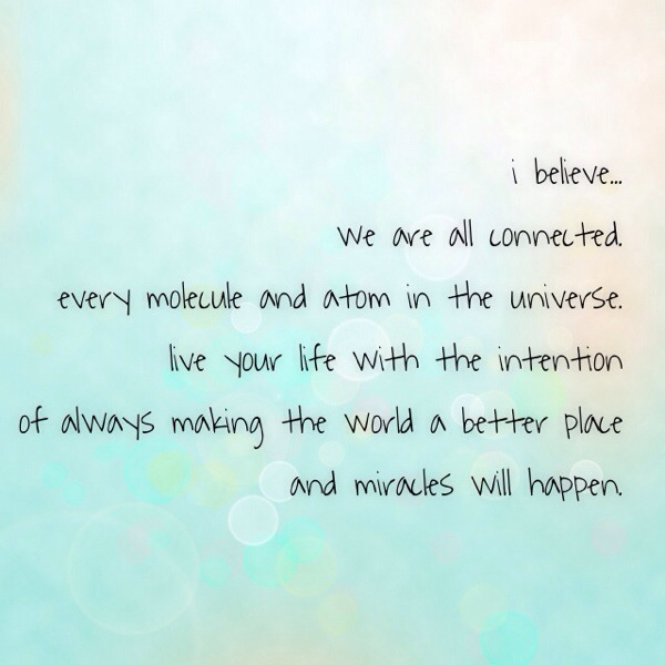 Miracles and Molecules and the universe