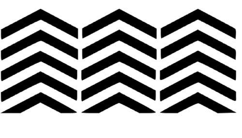 Chevron Fingernail And Toenail Set 15 Vinyl Decal