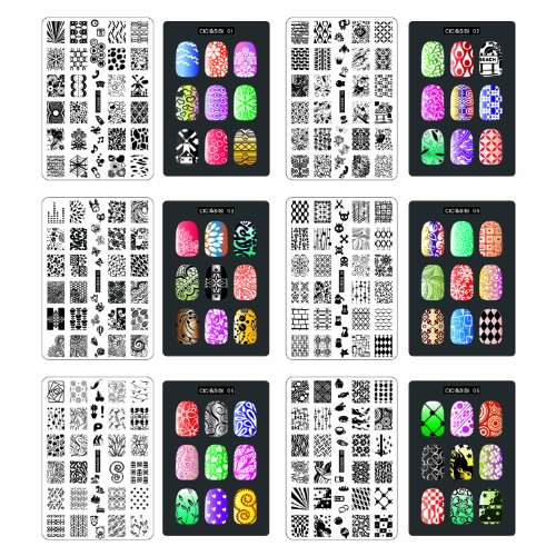 Cicisisi nail art stamp collection set jumbo1 set of 6 jumbo cicisisi nail art stamp collection set jumbo1 set of 6 jumbo nailart polish stamping manicure image plates accessories kit totaling 216 images all new prinsesfo Images