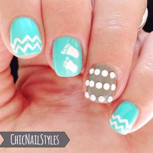 Baby Boy Nursery Nails - Baby Boy Nursery Nails - Chic Nail Styles