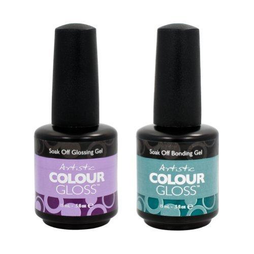 Home/Soak Off Gel Polish/Artistic Colour Gloss. Artistic Nail Design ... - Artistic Nail Design 2 Piece Salon Manicure Bundle Bonding Gel