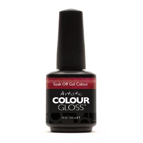 Home/Soak Off Gel Polish/Artistic Colour Gloss. Artistic Nail Design ... - Artistic Nail Design Soak Colour Gloss Gel Cherry Glimmer Polish