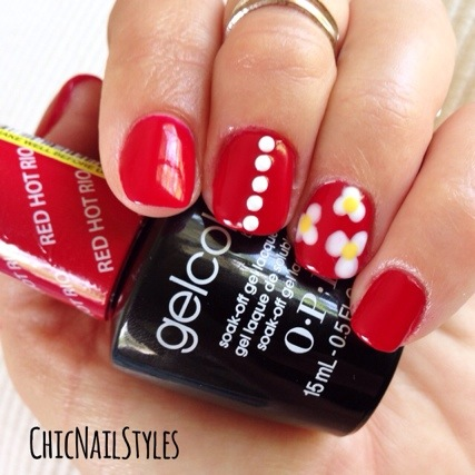 Opi Gelcolor Red Hot Rio Review Chic Nail Styles