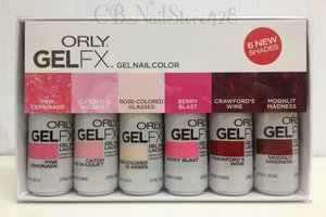 Orly Gel FX 6 Pix Nail Polish Set, Pink and Red Spring - Chic Nail ...