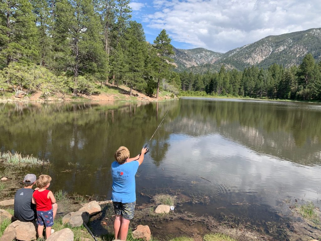 trout fishing at pine valley